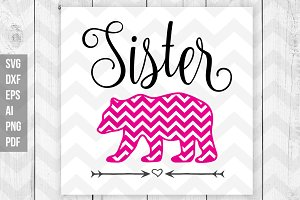 Sister Bear SVG DXF Print files