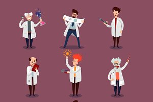 Scientists Characters Set