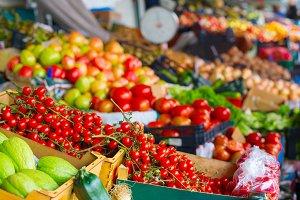 Cherry tomatoes market Porto