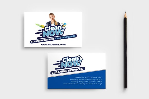 Cleaning Service Business Card Cards
