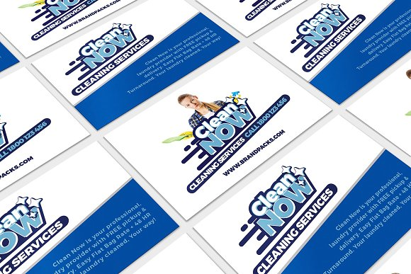 Cleaning Service Business Card Templates Creative Market