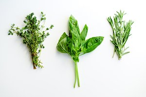 Rosemary, basil and thyme