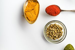Colorful middle eastern spices