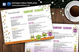 Kids Menu,kid's meals template ID36