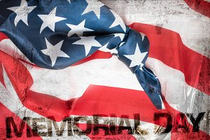 American flag grunge background