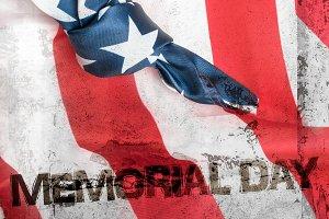 American flag grunge background