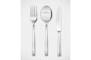 Fork, spoon, knife. Set of utensils