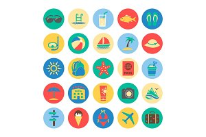 Summer Colorful Icons