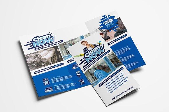 Cleaning Service Tri Fold Brochure Brochure Templates Creative