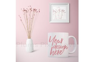 Pretty Feminine Coffee Mug Mock-up