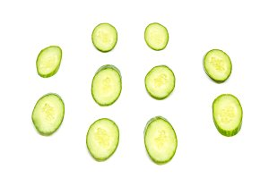 oval cucumber on a white background