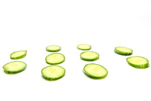 oval cucumber on a white background the bottom view