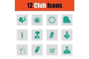 Set of club icons