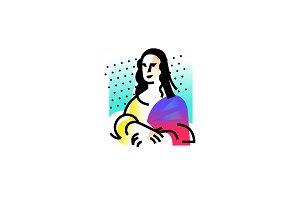Drawing of the Mona Lisa