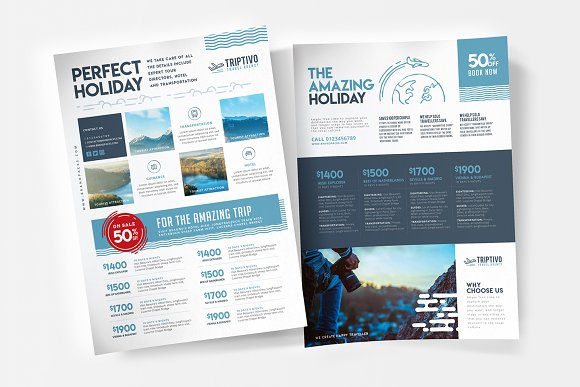 A4 Travel Company Poster Template Flyer Templates Creative Market