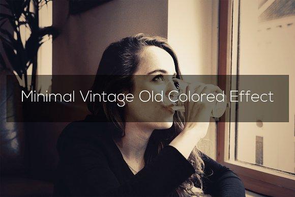 Minimal Vintage Old Colored Effect