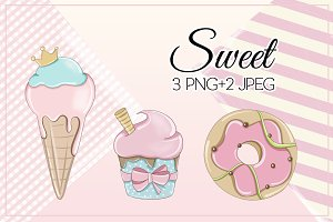 "Illustrations ""Sweet"" Candy Pink"