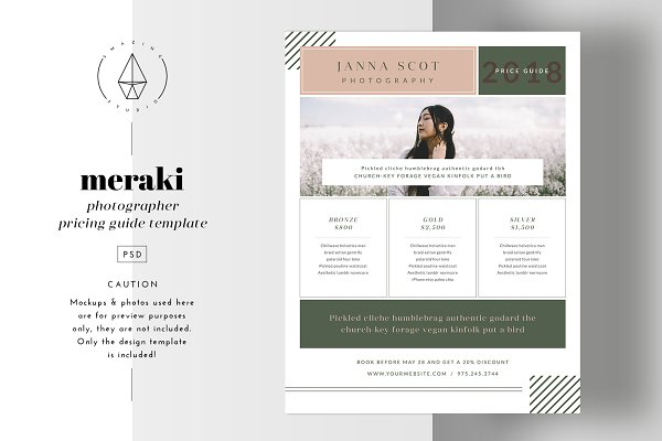 Flyer Templates: Smazing Studio - Meraki - Pricing Guide Template