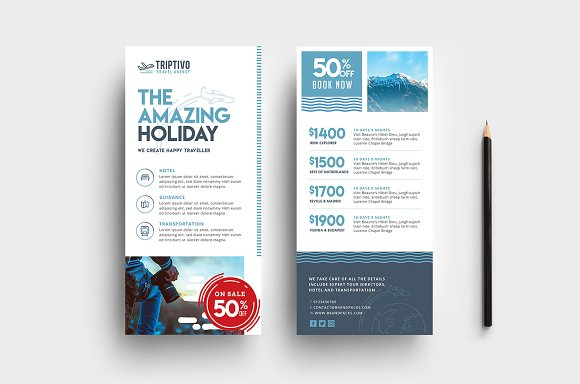 Travel Company DL Card Template
