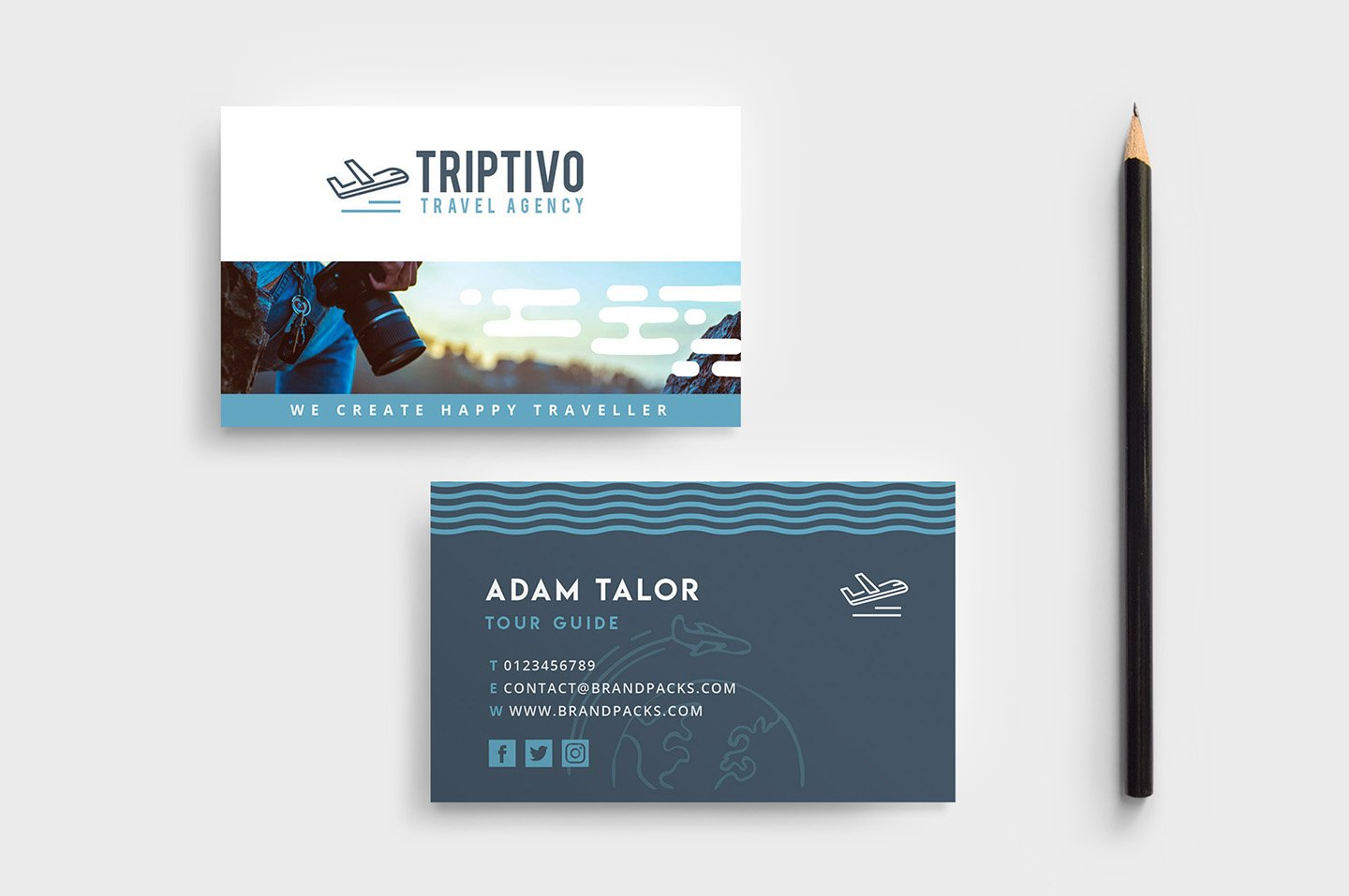 Travel Company Business Card Design ~ Business Card Templates ...