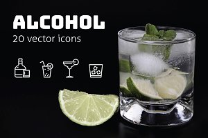 ALCOHOL - vector icons