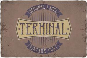 Terminal typeface