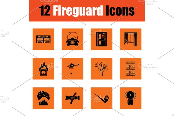 Set of fire service icons in Icons