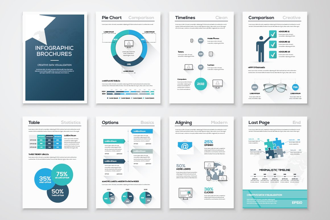Infographic Brochure Elements Illustrations Creative Market - Infographic brochure template