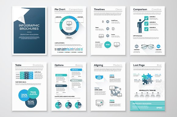 Infographic brochure elements 10 illustrations on for Infographic brochure template