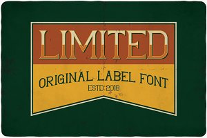 Limited typeface