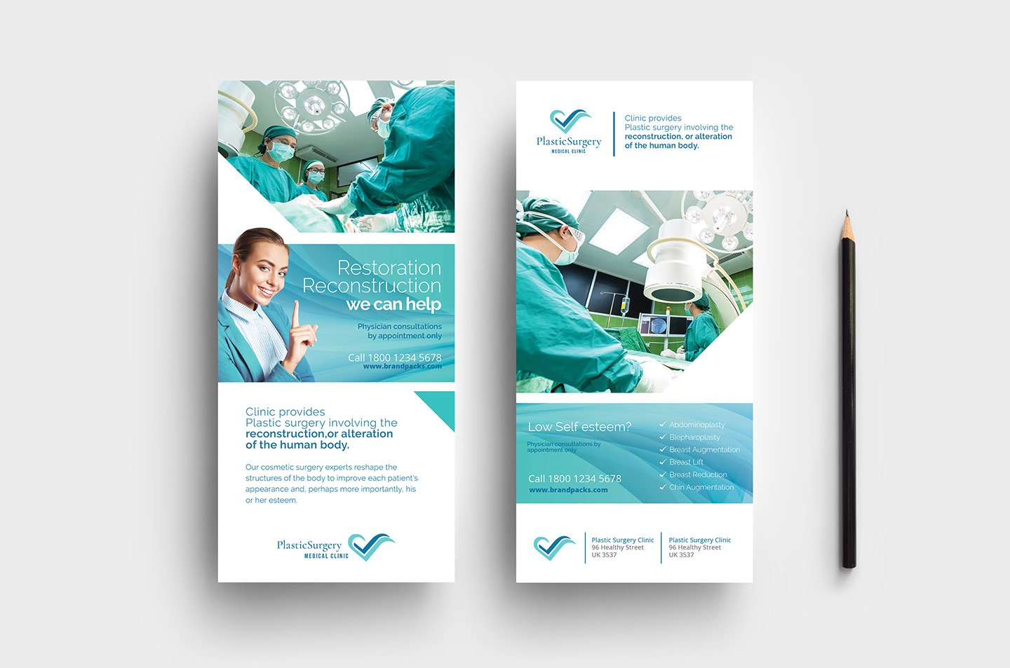 Plastic Surgery DL Card Template ~ Card Templates ~ Creative Market