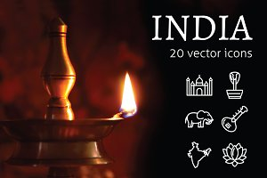 INDIA - vector icons