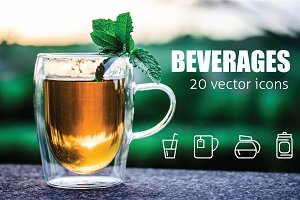 BEVERAGES - vector icons