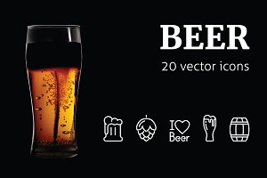 BEER - vector icons