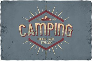 Camping typeface