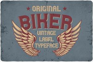 Biker typeface