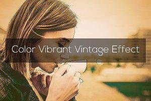 Color Vibrant Vintage Effect