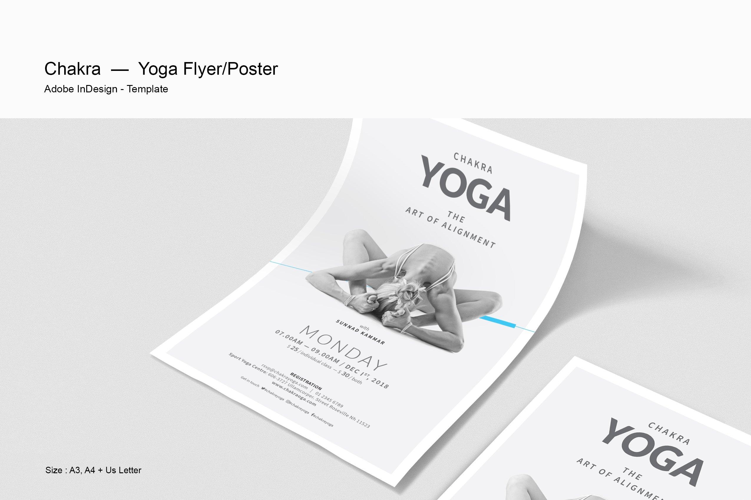 yoga poster flyer flyer templates creative market