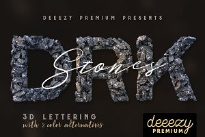 Dark Stones – 3D Lettering