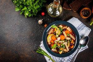 Italian soup Minestrone