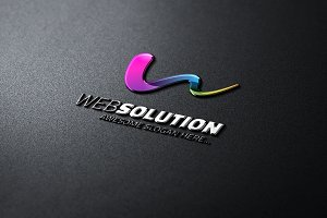 WebSolution -Abstract W Letter Logo