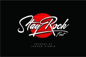 StayRock Font script