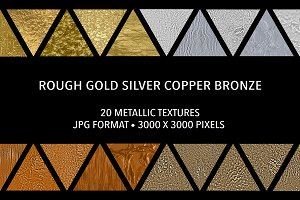 Rough Gold Silver Copper Bronze