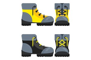 boots yellow and black icon