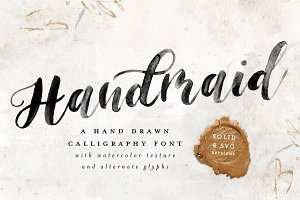 Handmaid SVG + Solid Font