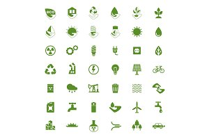 eco icons big set