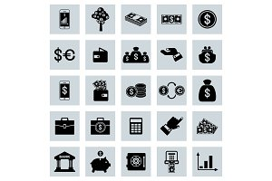 Financial Vector flat icons set