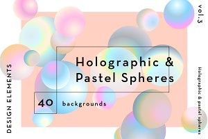 Holographic & Pastel Balls