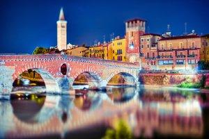 Night in Verona, Italy