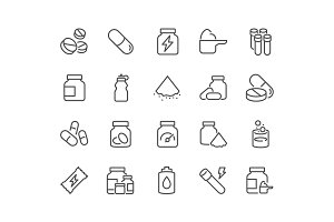 Line Sport Supplements Icons
